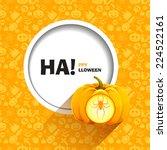 vector illustration of yellow... | Shutterstock .eps vector #224522161