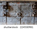 Closeup On The Locks Of An Old...