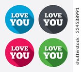 love you sign icon. valentines... | Shutterstock .eps vector #224538991