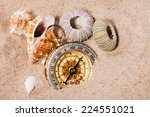 sea  shells   compass   on ...   Shutterstock . vector #224551021