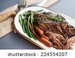 slow cooked pot roast with... | Shutterstock . vector #224554207