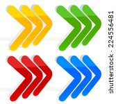 3d triple right arrows  | Shutterstock .eps vector #224556481