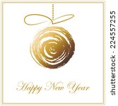 christmas and happy new year... | Shutterstock .eps vector #224557255