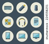 school and education icons flat ... | Shutterstock .eps vector #224558251