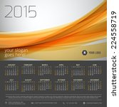 Calendar 2015 Vector Template...