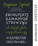 retro vector 'organic spirit'... | Shutterstock .eps vector #224571115