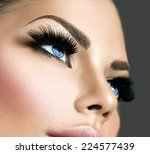 Постер, плакат: Beauty face makeup Make