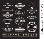 retro vintage insignias or... | Shutterstock .eps vector #224578519
