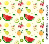 pattern with fruit | Shutterstock .eps vector #224579629