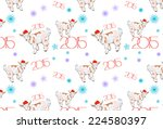 new year and merry christmas... | Shutterstock .eps vector #224580397