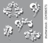 art deco swirls | Shutterstock . vector #224580571