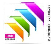 banner ribbons set | Shutterstock .eps vector #224586289