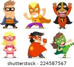 Children Dressed As Superheroe...