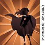 sexy blonde superhero woman... | Shutterstock .eps vector #224588875