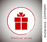 red icon on a gray background.... | Shutterstock .eps vector #224594095