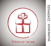 red icon on a gray background.... | Shutterstock .eps vector #224594101