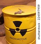 lizard on a barrel of... | Shutterstock . vector #224597959