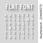 flat font with long shadow... | Shutterstock .eps vector #224600275