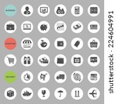 set of web icons for business ... | Shutterstock .eps vector #224604991