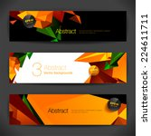 set of bright polygonal... | Shutterstock .eps vector #224611711
