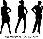 fashion women silhouettes  ... | Shutterstock .eps vector #22461589