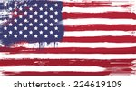 vector usa grunge flag  painted ... | Shutterstock .eps vector #224619109
