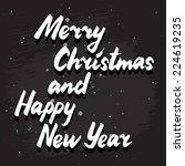 vector merry christmas... | Shutterstock .eps vector #224619235