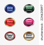 best choice sign icon button  | Shutterstock .eps vector #224620897