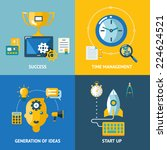generation of ideas start up... | Shutterstock .eps vector #224624521