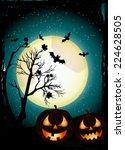halloween background | Shutterstock .eps vector #224628505