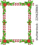 christmas border with candy... | Shutterstock .eps vector #224628865