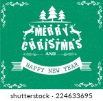 vector merry christmas and... | Shutterstock .eps vector #224633695