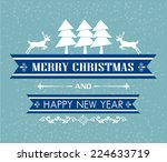 vector merry christmas and... | Shutterstock .eps vector #224633719