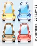 illustration of a cartoon car...   Shutterstock .eps vector #224639431