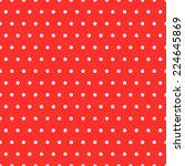 classical polka dots seamless...   Shutterstock .eps vector #224645869