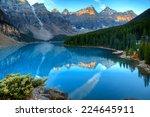 moraine lake in banff national ... | Shutterstock . vector #224645911