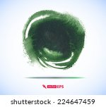 brush stroke in the form of a...   Shutterstock .eps vector #224647459