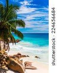 tropical beach. the seychelles | Shutterstock . vector #224656684