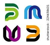 "abstract vector logo template. ""... | Shutterstock .eps vector #224658631"