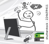 computer rage may manifest... | Shutterstock .eps vector #224659411
