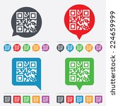 Qr Code Sign Icon. Scan Code...