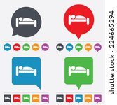 human in bed sign icon. travel... | Shutterstock . vector #224665294