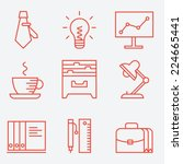 thin line icons for business... | Shutterstock .eps vector #224665441
