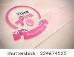 breast cancer awareness message ... | Shutterstock . vector #224674525