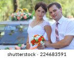 bride and groom at a wedding in ... | Shutterstock . vector #224683591