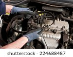 mechanical repairs a car in the ... | Shutterstock . vector #224688487
