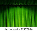 Green Theater Curtain