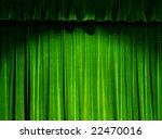 Green Theater Curtain