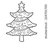Coloring Book  Christmas Tree