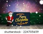 cute cartoon santa claus... | Shutterstock . vector #224705659